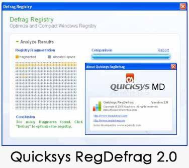 Quicksys RegDefrag 2.0 یکپارچه سازی رجیستری Quicksys RegDefrag 2.0