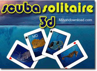 SS 3D بازي فكري و زيبا Scuba Solitaire 3D   جاوا