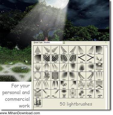 50brush مجموعه براش های حرفه ای فوتوشاپ