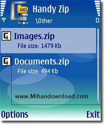 handy zip نرم افزار Handy Zip   سیمبیان ویرایش سوم