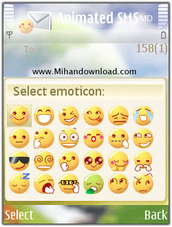 Zensis Animated SMS  ارسال شکلک های یاهو مسنجر با اس ام اس و بلوتوث Zensis Animated SMS v1.20