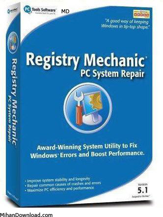 87684234nr8 نرم افزار براي تعمير رجيستري Registry Mechanic 8.0.0.900 Build 2