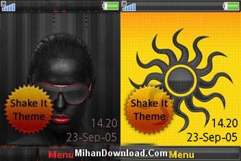 2Shake Theme تم متحرک موبايل سونی اریکسون مدل های k850i, w910i, c902, w980 و w760