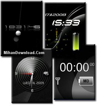 Black%20Flash%20Clock%5Bwww.MihanDownload.Com%5D دانلود محافظ صفحه نمایش ساعت فلش مشکی Screen Saver Mobile