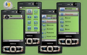 GreenHole%20default تم موبایل زیبا با رنگبندی سبز