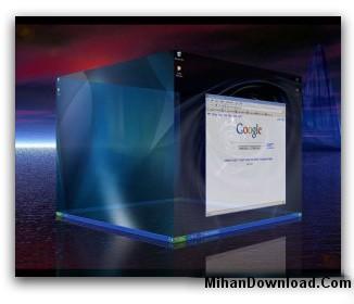 MihanDownload.Com Cube%20Desktop%20Pro%201.3.1 نرم افزار ايجاد دسکتاپ سه بعدی  Cube Desktop Pro 1.3.1