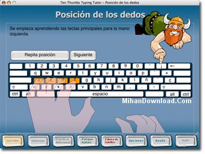 MihanDownload.Com Thumb generated thumbnai نرم افزار تمرین و تکرار تایپ ده انگشتی Ten Thumbs Typing Tutor 4.7 + سریال