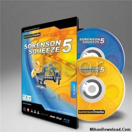 Sorensonsqueeze wm نرم افزاری براي كم كردن حجم فایل های تصویری Sorenson Squeeze v5.0.4.10
