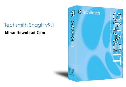 Techsmith%20SnagIt%20v9.1 نرم افزار فیلم برداری از صفحه دسکتاپ برای ساخت نرم افزارهای آموزشی  SnagIt v9.1.2