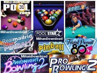 The Best Pool Pinball Bowling%5Bwww.MihanDownload.com%5D مجموعه چند بازی سرگرم کننده موبایل جاوا The Best Pool Pinbal Bowling