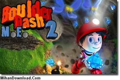 boulder%5Bwww.MihanDownload.Com%5D بازی جدید جاوا موبایل بمب گزاري Boulder Dash 2