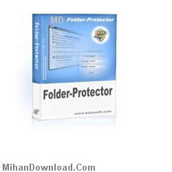 folderprotector%5BMihanDownload.Com%5D نرم افزاري براي امنيت و قفل گذاري روي پو شه هاي كامپيوتر   KakaSoft Folder Protector v5.35