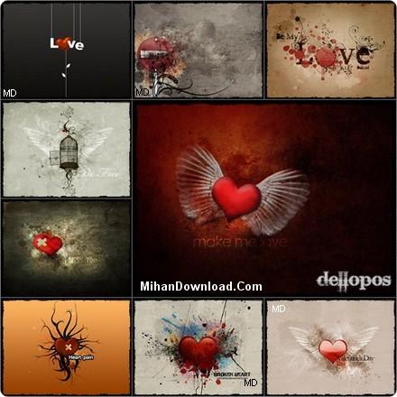 love%20Wallpapers%5BMihanDownload.com%5D عكس عاشقانه ولنتاين براي پس زمينه ويندوز Wallpapaer Love the heart