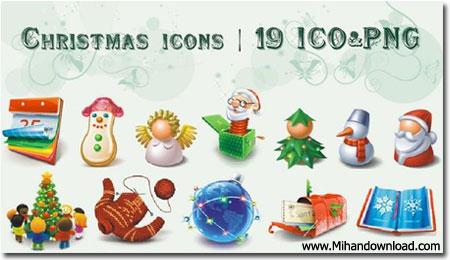 19 Christmas Icons مجموعه 19 آیکون جدید کریسمس