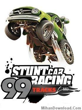stunt car بازي موبايل اكشن جديد با فرمت جاوا   Stunt Car Racing 99 Tracks
