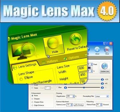 129e5fd17f9e دانلود نرم افزار بزرگنمايي تصاوير تا 32 برابر MAGIC LENS MAX