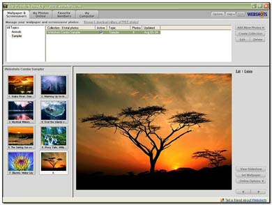 164b نرم افزار مدیریت پس زمینه های دسکتاپ Webshots Desktop 3.0.0