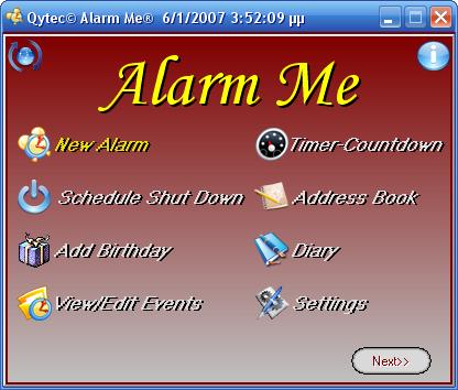 19906 alarm me دانلود نرم افزار پخش زنگ اخطار در ساعت تعيين شده banshee screamer alarm