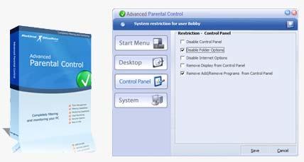 Advancedl نرم افزاری برای کنترل فرزندان توسط والدین  Advanced Parental Control 1.9
