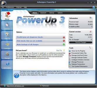 Ashamjj نرم افزاری برای داشتن بهترین کارایی سیستم با Ashampoo PowerUp v3.20