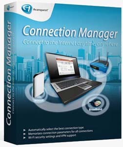 Avanquk مدیریت شبکه بی سیم Avanquest Connection Manager Free 2.03