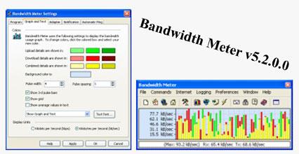 Bandw نرم افزار شبکه و پهنا باندBandwidth Meter v5.2.0.0