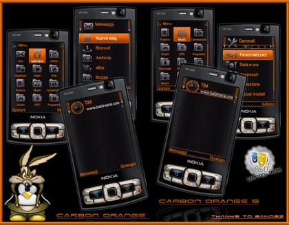 Carbonsito دانلود تم جدید و قشنگ برای نوکیا سری 60 ورژن3 Theme Nokia