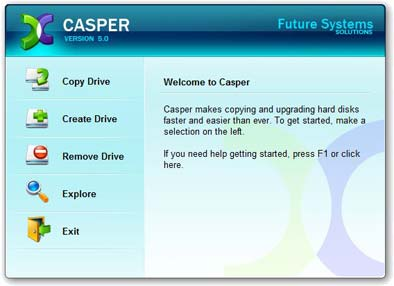 Caspejjj نرم افزاری برای کپی برداری و تهیه فایل های پشتیبان Casper v5.0.1294