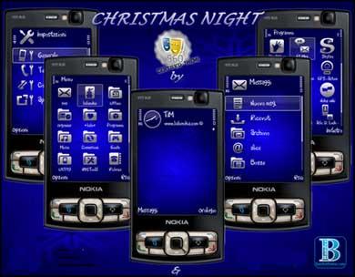 ChristmasNightsito دانلود تم زيباي chiristian night براي گوشي هاي نوكيا