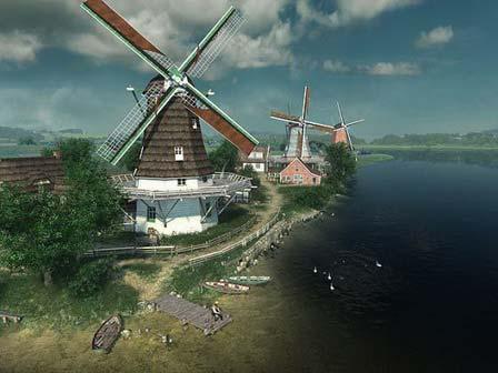 Dutchffffff پنجره ای بروی اروپای قرون وسطی باز کنید Dutch Windmills 3D Screensaver