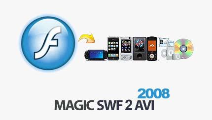 Magddds تبدیل فایل های فلش Magic Swf2Avi 2008