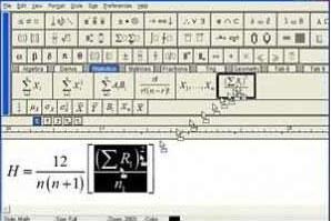 MathType نرم افزار تایپ فرمول های ریاضی MathType v5.2