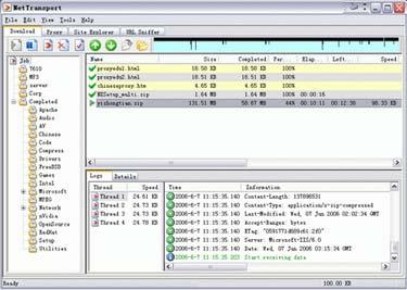 Netll مدیریت دانلود سریع و قدرتمند Net Transport v2.64.422