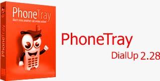 PhoneTrkkk آگاهی از تماس های تلفنی در هنگام اتصال به اینترنت PhoneTray DialUp 2.28
