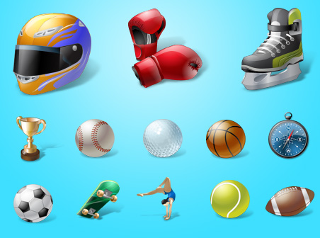 Vista(mihandownload.com) Vista Style Sport Icon Set