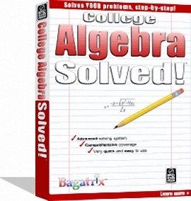 college algebra box دانلود نرم افزار حل تمامي معادلات درس رياضي algebra solved