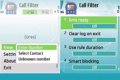 filter نسخه جديد نرم افزار محدوديت تماس Any Call Filter سري 60