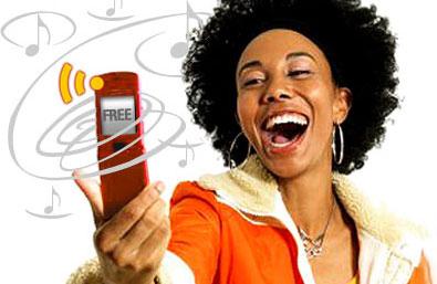 img girl creating free own ringtone دانلود کلیپ های صوتی خنده دار با پسوند amr
