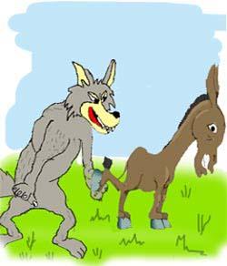 sk006 کتاب الکترونیکی داستان گرگ و الاغ مخصوص کودکان