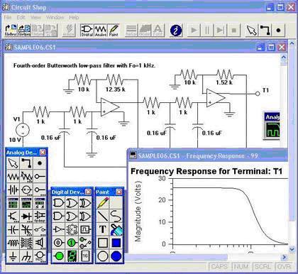 نرم افزار  طراحي مدار الكترونيكيElectronic Circuit Shop 2.04
