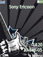 Guitar%5BmihanDownload.com%5D تم گیتار Guitar Theme برای موبايل سونی اریکسون