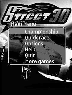 Street Racing Mobile 3D بازی جديد جاوا و 3 بعدی Street Racing Mobile برای موبایل