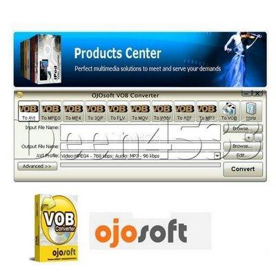 screenshot vob converter %5BMihanDownload.com%5D نرم افزار تبديل فرمت دي وي دي OJOsoft VOB Converter v1.5.3.0118