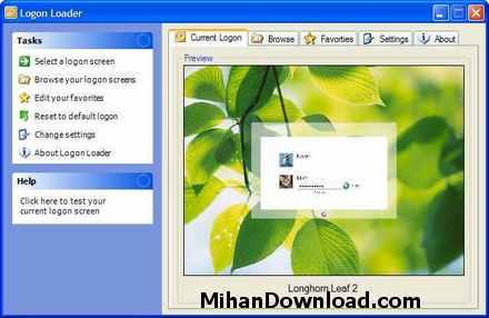 ss main big نرم افزار  تغییر صفحه بوت ویندوزLogon Loader 3.0