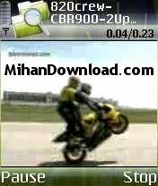 MOTOR%5BMihanDownload.com%5D کلیپ تصویری موتورسواری و تک چرخ و افتادن