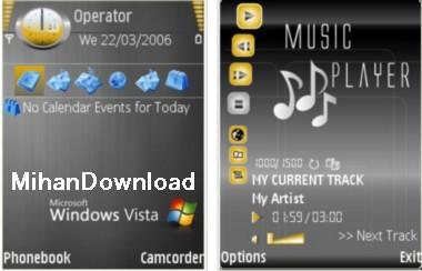 Vista(MihanDownload.com) تم موبایل توپVista theme برای نوکیا سری n