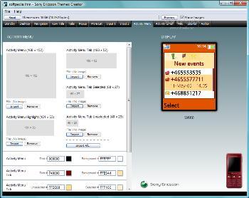 تم ساز گوشی های سونی اریکسون Sony Ericsson Theme Creator 3.27