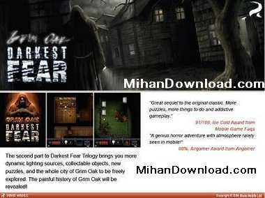 darcet بازی جدید موبابل با فرمت جاواDarkest Fear II