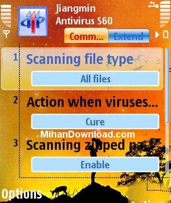 1204514150 نرم افزار انتی ویروس موبایل نوکیا سری 60 ورژن 3 jiangminan