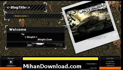 48%5BMihanDownload.com%5D قالب وبلاگ بلاگفا جديد گرافيكي Temp Weblog Blogfa